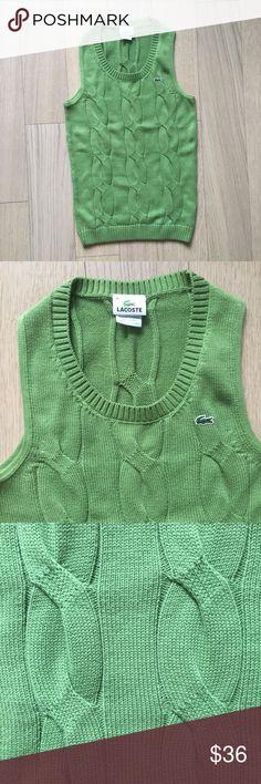Lacoste green cotton sweater Original Lacoste green sweater. 100% Cotton. Size 38, equivalent to US Small/Medium. Brand new. Lacoste Sweaters Crew & Scoop Necks