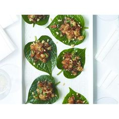 Betel leaves with sticky prawns and peanuts recipe | Food To Love