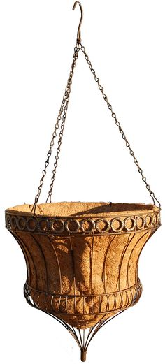 Queen Elizabeth Parasol Hanging Basket - Rustic Brown 14 Inch Diameter - This product was exactly what I needed. Window Planters, Basket Planters, Hanging Planters, Hanging Baskets, Planters For Sale, Best Grow Lights, Portable Greenhouse, Ceramic Flower Pots, Self Watering Planter