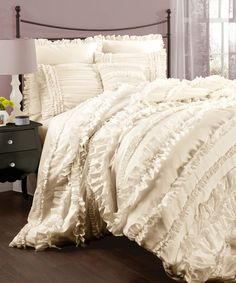 This Ivory Belle Comforter Set is perfect! #zulilyfinds