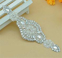 Rhinestone Crystal Applique for the Dancing Party Pure Manual Dress Belt Applique Bridal Belt Applique Embellishment * Click image to review more details.