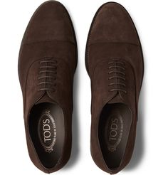Tod's - Cap-Toe Suede Oxford Shoes MR PORTER
