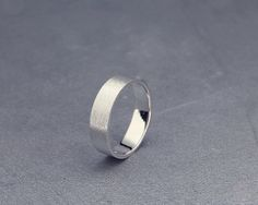 ✿ DESCRIPTION  A handmade solid 14k white gold band.  Mens wedding band, in most cases, is the only piece of jewelry you wear. As such, the design