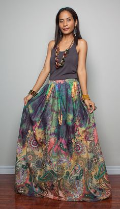 Floor Length Skirt - Boho Maxi Skirt : Feel Good Collection II