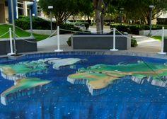 Lovely-World-Map-Chalk-Art-