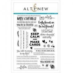 Your Crafty Friends will appreciate anything you make for them using this stamp set from Altenew. The package includes 39 clear acrylic stamps made in the USA Hobby Lobby Wall Art, Best Frends, Hobby Town, Finding A New Hobby, Staff Motivation, Christmas Party Favors, Hobby Trains, Realtor Gifts, Altenew