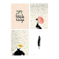 BILD Poster, set of 4, Simple joy