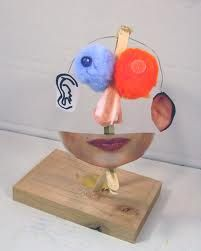 collaged 3d heads