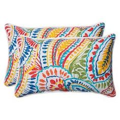 Pillow Perfect™ Ummi Outdoor 2-Piece Lumbar Throw Pillow Set - Multicolored
