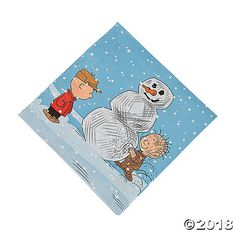 Soak up spills during your Christmas party with these Peanuts® Christmas Luncheon Napkins. Printed with Charlie Brown and his pal building a snowman, set ...