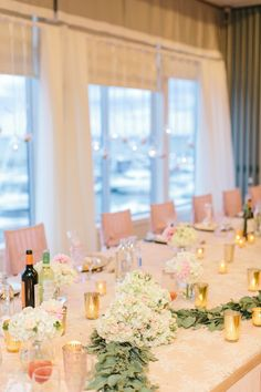 pink and gold tables cape