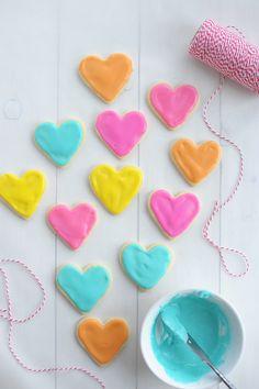 Valentine sugar cookies / Biscuits de St-Valentin en sucre