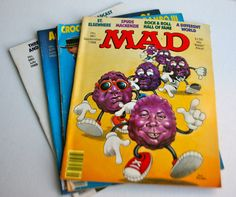 Vintage Mad Magazine Lot from 1988 by MellowMermaid on Etsy, $18.50