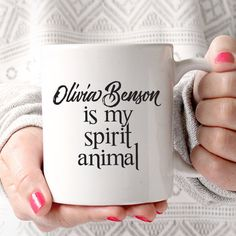 Olivia Benson is My Spirit Animal | Law and Order SVU | Drama Fan | Television Lover Coffee Mug by JitterMug on Etsy https://www.etsy.com/listing/281004524/olivia-benson-is-my-spirit-animal-law