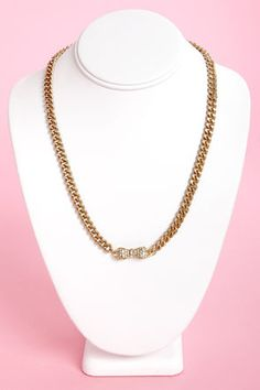#lulusholiday Gold bow necklace