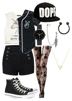 """SNSD-I got a boy dance cover outfit."" by lazerpup104 on Polyvore featuring LE3NO, Forever 21, Converse, I Love Ugly, Bling Jewelry, Wanderlust + Co, women's clothing, women, female and woman"