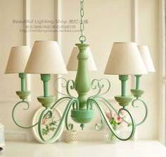 The chandelier living room bedroom study American Country French garden decoration old retro mix