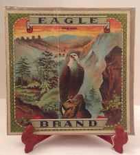 Vintage Tobacco Sign Label: Eagle Brand Bald Eagle Pioneers Canyon Cigars Pipes
