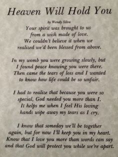 Heaven will hold you.  I miss my baby boy Rafy! <3   #infantloss