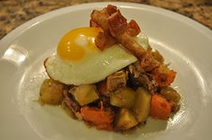 The Fit Daffy: Sweet Potato Hash with Pork Belly and Crackers