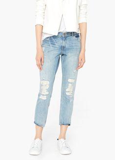 Jeans slim cropped nancy -  Mulher | MANGO