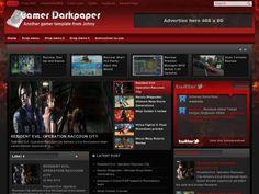 Gamer Darkpaper Blogger Template é um template blogger para blog de jogos, entretenimento e etc. Com layout atraente, Gamer Darkpaper tem 3 colunas, 1 sidebar direita, menus drop-down, slide de conteúdo em destaque, blocos de widget por categorias, botões