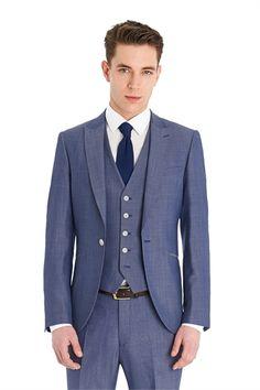 Ventuno 21 Slim Fit Light Blue 3 Piece Suit