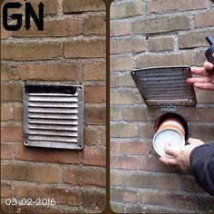 Geocache Nation - What a clever wall hide! Awesome find If you want to be featured on - Secret Hiding Places, Hiding Spots, Hidden Spaces, Hidden Rooms, Hidden Compartments, Secret Compartment, Secret Space, Secret Rooms, Secret Storage