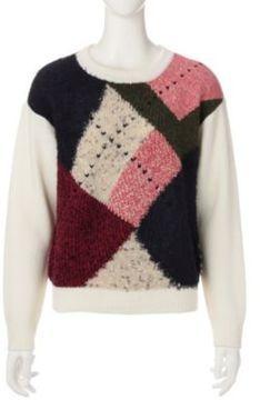 Argyle block color sweater / ShopStyle(ショップスタイル): Pringle (プリングル)