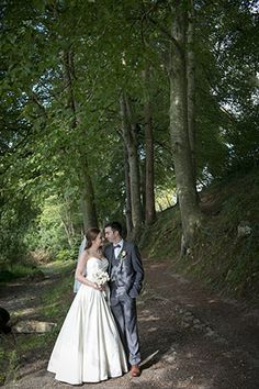 Bride and groom near the water in Castleconnell, Co. Limerick