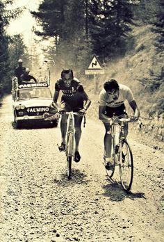 Eddy Merckx chez Faemino Giro 1970 avec Martin Vandenbbossche chez Molteni qui sera son coéquipier l'an prochain... et les années suivantes !!