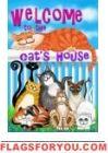 Cat's House Garden Flag