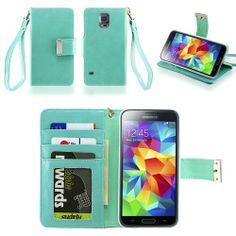 IZENGATE Samsung Galaxy S5 Executive Premium PU Leather Wallet Flip Case Cover Folio Stand (Mint), http://www.amazon.com/dp/B00IPY0E0Y/ref=cm_sw_r_pi_awdm_M3Tttb01RWF9S
