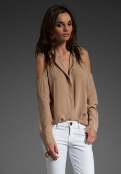 Equipment 'Nixie' blouse in camel