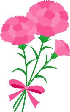 ピンクのカーネーションのイラスト