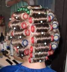 Remember ladies in the grocery store in their curlers, with a scarf covering them?!