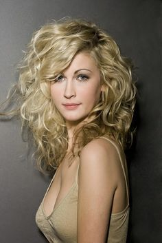 Alpha Blonde: Long Bob Hairstyles With Bangs for Curly Hair Tips