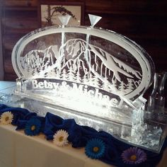 Mountain themed Ice luge....for a Wedding in the Mountains of Estes Park