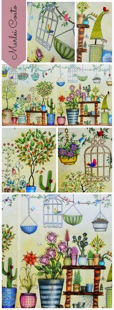 Atelier Gina Pafiadache Inspirational Coloring Pages #inspiração #coloringbooks #livrosdecolorir #jardimsecreto #secretgarden #florestaencantada #enchantedforest #reinoanimal #animalkingdom #adultcoloring #milliemarotta #lostocean #oceanoperdido #johannabasford