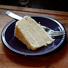 White Chocolate Amaretto Cake with Almond Buttercream Frosting