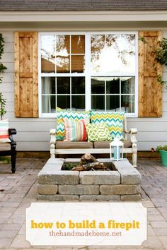 how to make your own fire pit and patio with pavers.