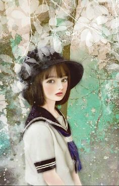 """Summer School Uniform"" -- by Miharu Yokota, Japanese"