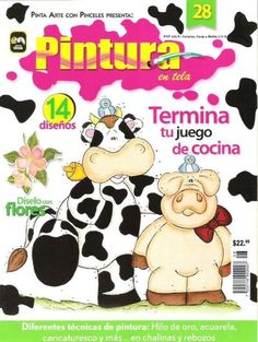 FREE MAGAZINE! ..Pintura en Tela n28 - M Andrade - Picasa Web Albums! Tole Painting, Fabric Painting, Country Magazine, Free Magazines, Pintura Country, Painted Books, Book Crafts, Craft Books, Online Painting