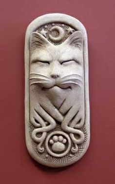 1207 #Carruth Midnight #Celtic #Cat #gift #handcrafted #madeinAmerica #stone #handcaststone http://www.carruthstudio.com/categories/cats.aspx/?source=pinterest