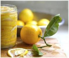 Preserved lemons, Moroccan style, to add to fish, chicken, Salads, and salsas.