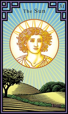 31. The Sun - Burning Serpent Oracle by Robert M. Place and Rachel Pollack