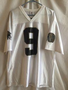 SYTp NFL New Orleans Saints Drew Brees #9 Jersey Men's L White Polyester #NFL #NewOrleansSaints