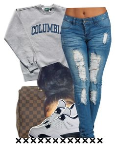 """7/19"" by trinityannetrinity ❤ liked on Polyvore featuring Columbia, Louis Vuitton and NIKE"
