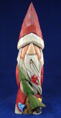 Wood Carved Santa by Lance Long, South Carolina.  Wonderful details