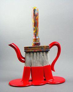 Paintbrush teapot